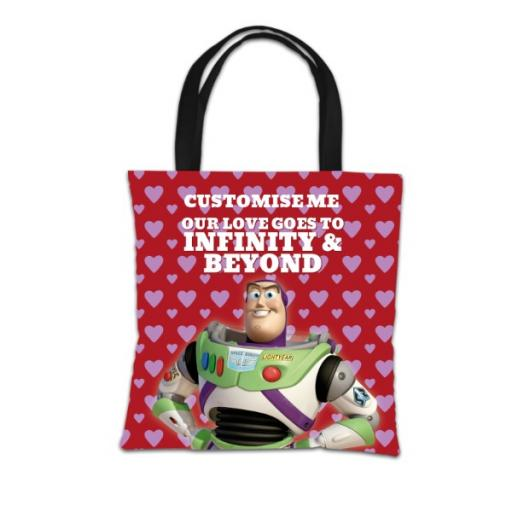 "Disney Toy Story Buzz Valentines ""Infinity & Beyond"" Tote Bag"