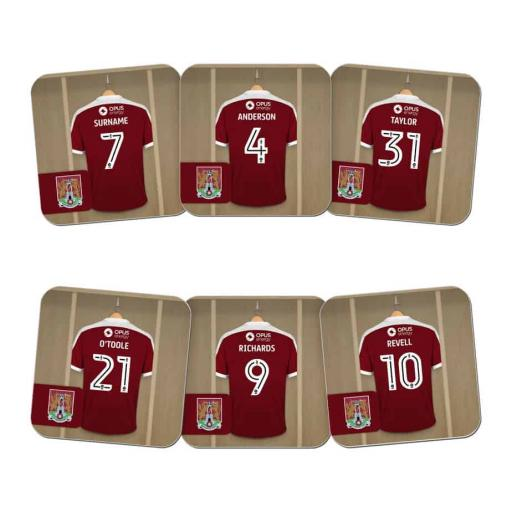 Northampton Town FC Dressing Room Coasters