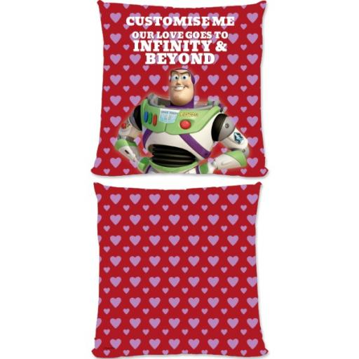 "Disney Toy Story Buzz Valentines ""Infinity & Beyond"" Small Fiber Cushion"