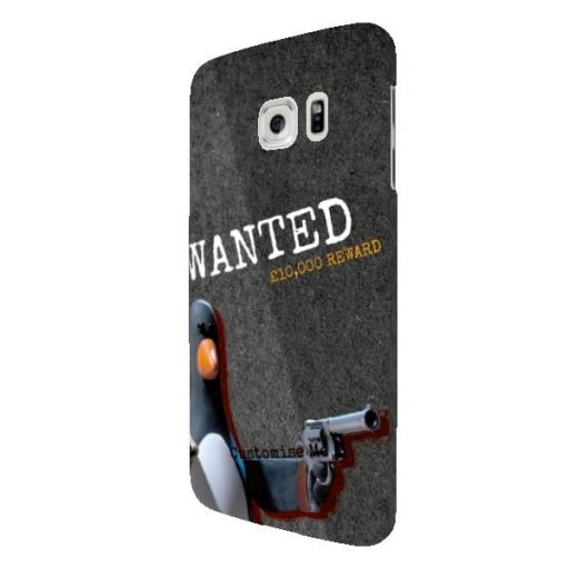 "Wallace And Gromit Feathers ""Wanted"" Samsung Galaxy S7 Edge Clip Case"