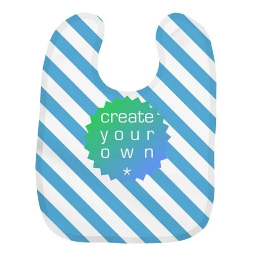 Create Your Own-Baby Bib – 100% Polyester – White