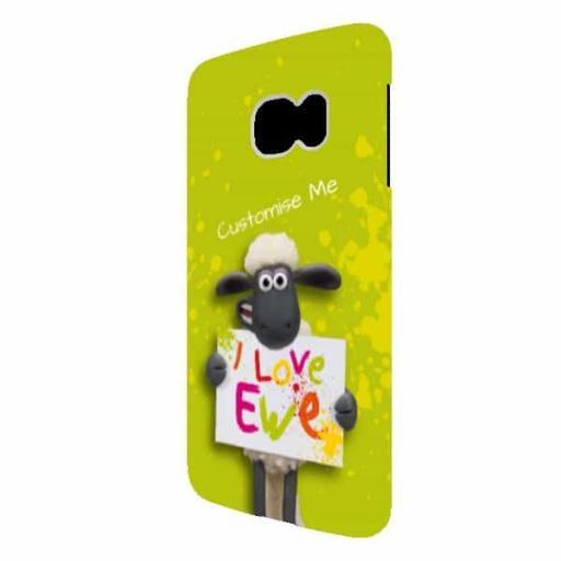 Shaun The Sheep Valentines Print Samsung Galaxy S6 Edge Clip Case