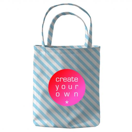 Create Your Own Tote Bag Mini - 300g Canvas - Full Colour With Coloured Handles
