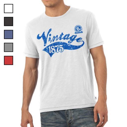 Blackburn Rovers FC Mens Vintage T-Shirt