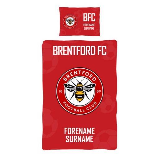 Brentford FC Crest Duvet Cover & Pillowcase