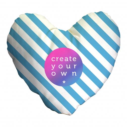Create Your Own-Heart Cushion With Hollow Fibre Inner - Smooth Linen - Double Sided print - 45cm x 45cm