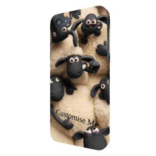 Aardman Shaun The Sheep Join The Flock Print iPhone 5/5s/5SE Clip Case