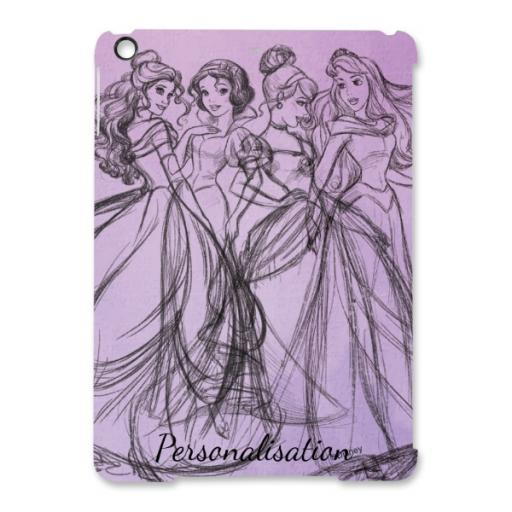 Disney Princess Group Watercolour iPad Air Clip Case