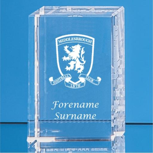 Middlesbrough FC Crystal Rectangle
