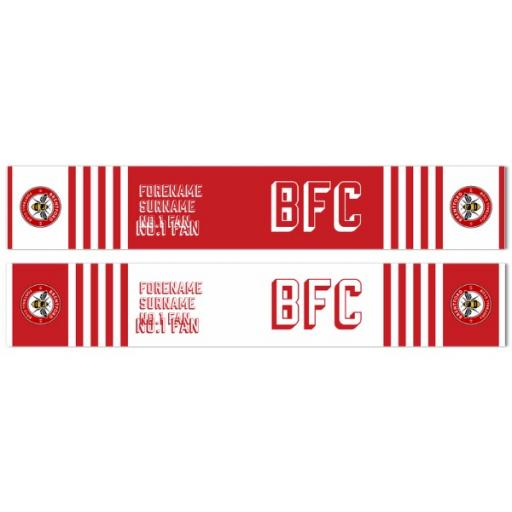 Brentford FC No.1 Fan Fleece Scarf