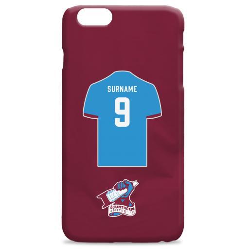 Scunthorpe United Shirt Hard Back Phone Case