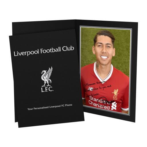 Liverpool FC Firmino Autograph Photo Folder