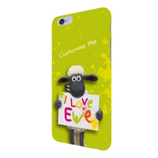 Aardman Shaun The Sheep Valentines Print iPhone 6+/6s+ Clip Case