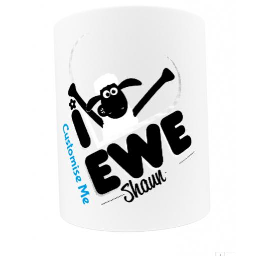 Aardman Shaun The Sheep I Love Ewe Mug