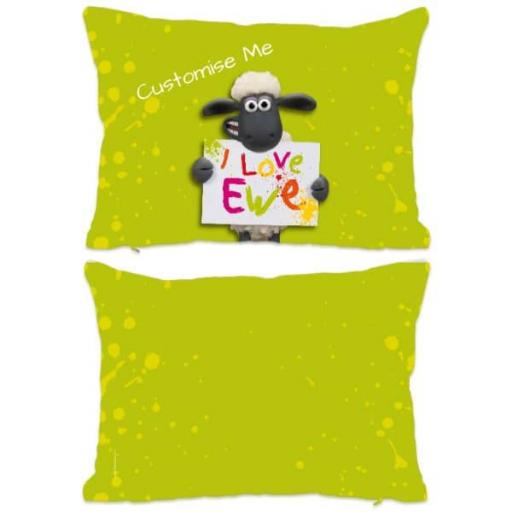 Aardman Shaun The Sheep Valentines Print Extra Large Fiber Cushion