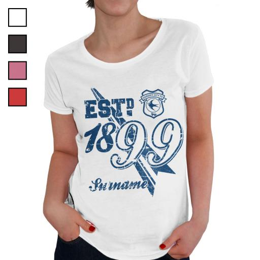Cardiff City FC Ladies Established T-Shirt