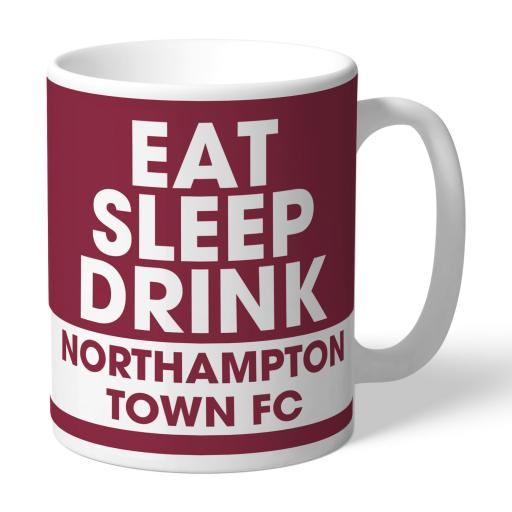 Northampton Town FC Eat Sleep Drink Mug