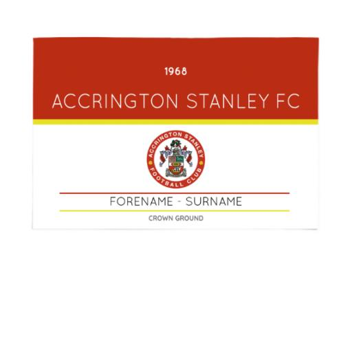 Accrington Stanley Minimal Ticket 6ft x 4ft Banner