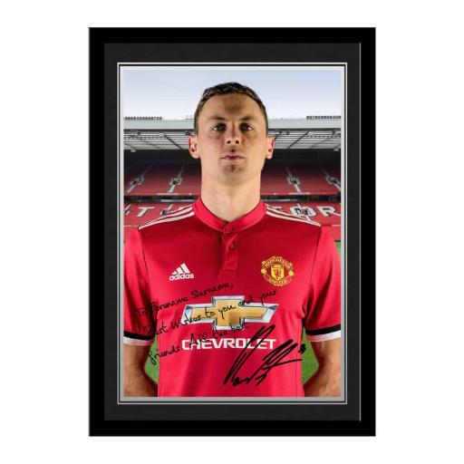 Official Personalised Manchester United FC Matic Autograph Photo Framed