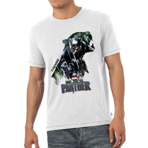 Marvel Black Panther Double Exposure Mens T-Shirt