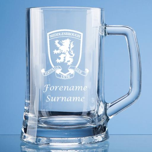 Middlesbrough FC Crest Large Plain Straight Sided Tankard