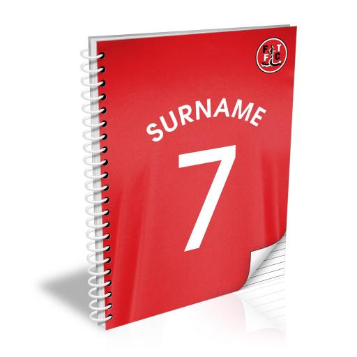 Fleetwood Town FC Shirt Notebook