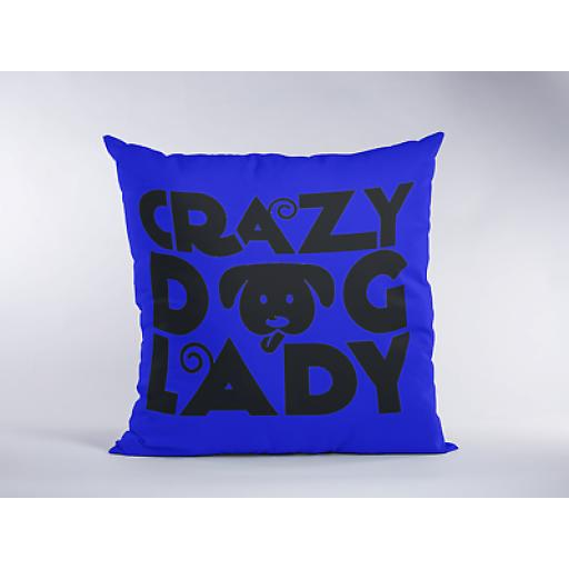 Crazy Dog Lady - Decorative Linen-Cushion Cover - Novelty Gift Women Dog Lovers