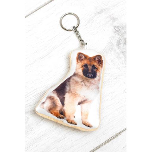 German Shepherd Shaped Image Key Ring