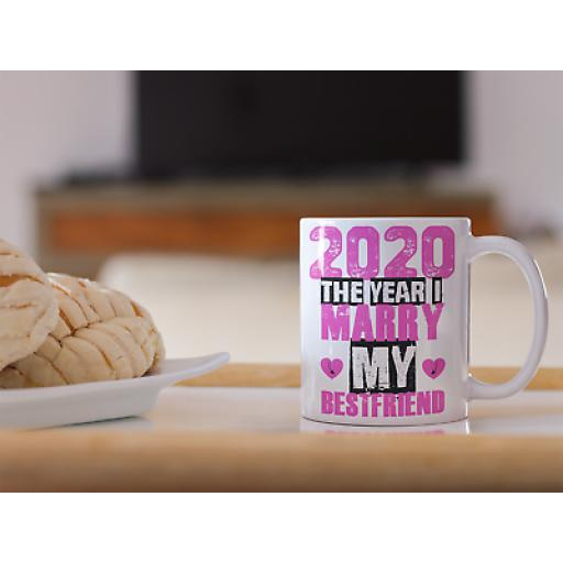 2020 The Year I Marry My Best Friend 11 oz Mug Engaged Couples