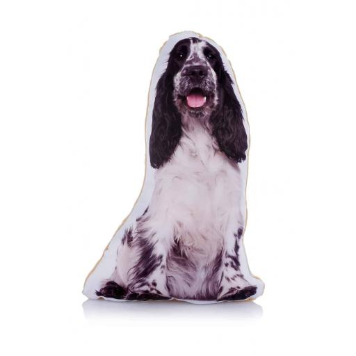 Black White Cocker Spaniel Midi Cushion Perfect For Dog Lovers