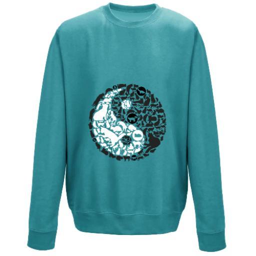 Ying Yang Cats Balance Unisex Sweatshirt