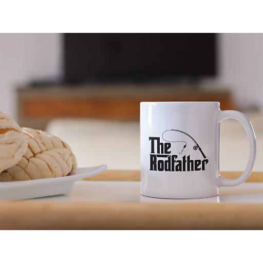 The Rod Father 11 oz Mug Novelty Design Gift Men Fishing Humour Funny