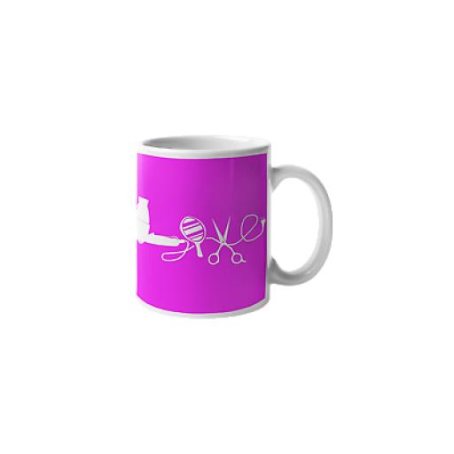 Love Hair and Beauty 11 oz Mug Ceramic Novelty Hairdresser Hairstylist Gift