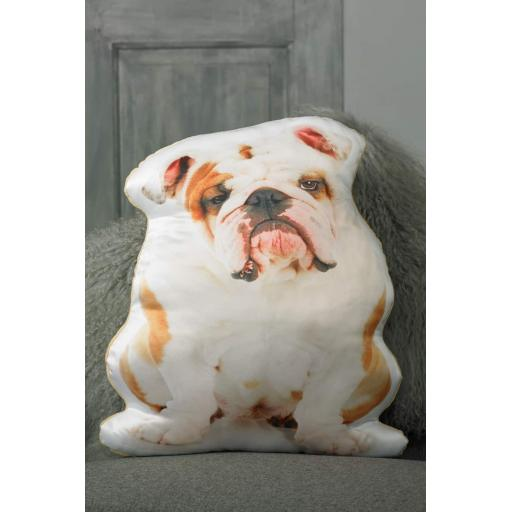 British Bulldog Shaped Cushion Perfect Gift For Dog Lovers
