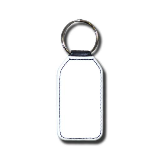 Create Your Own Key Ring - Faux Leather - Matt - Rectangle - Single Sided Print