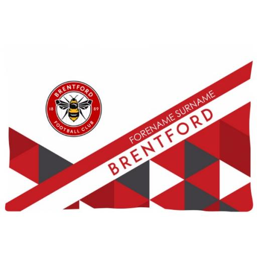 Brentford FC Patterned Pillowcase