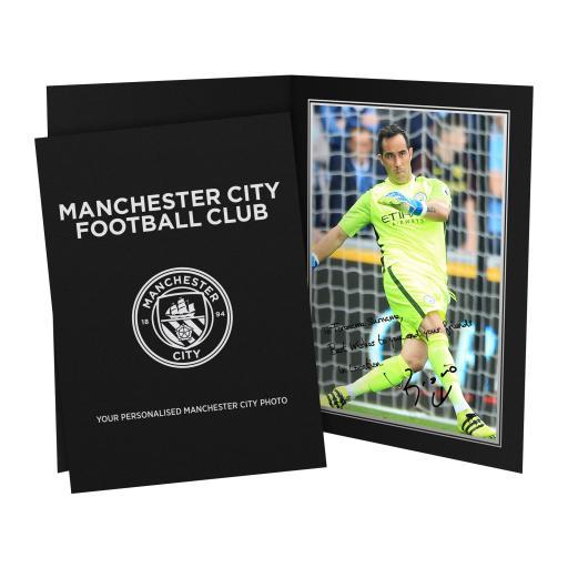 Manchester City FC Bravo Autograph Photo Folder