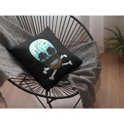 Dead City Themed Cushion Cover - Decorative Smooth Linen - Zombie City