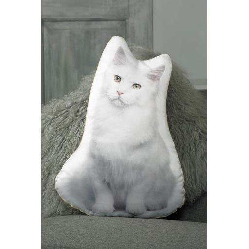 White Cat Shaped Cushion Perfect Gift For Cat Lovers