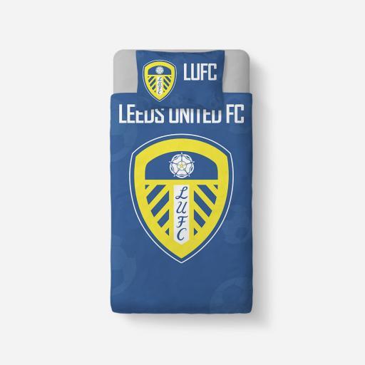 Leeds United FC Crest Duvet Cover & Pillowcase