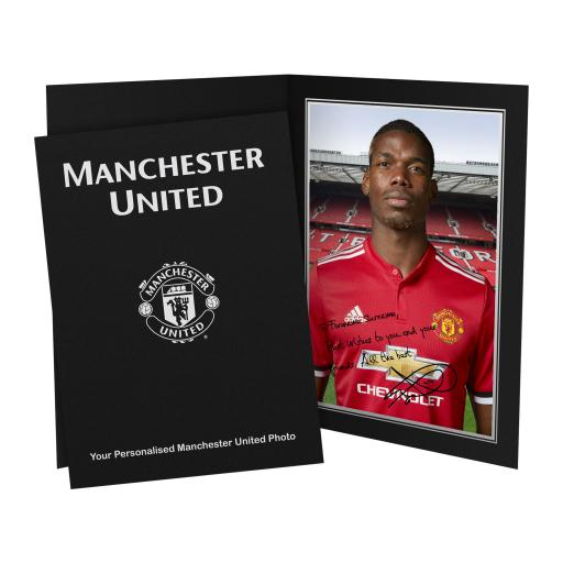 Official Personalised Manchester United FC Pogba Autograph Photo Folder
