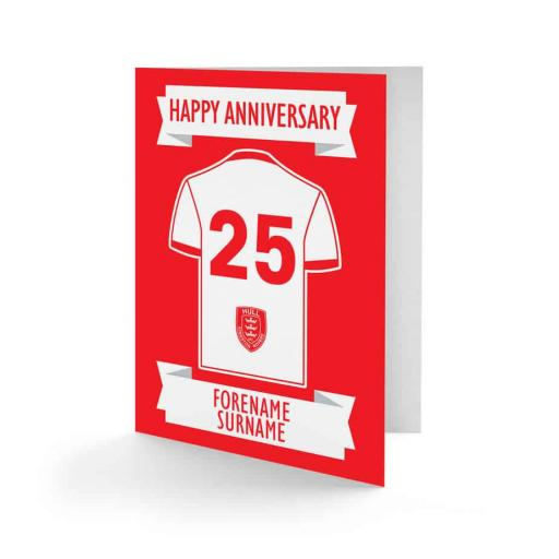 Hull Kingston Rovers Shirt Anniversary Card