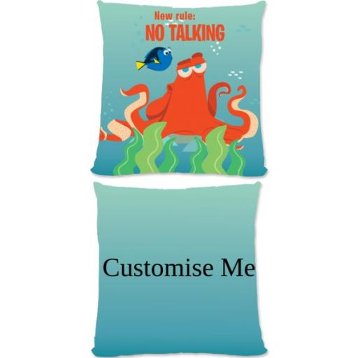 Disney Finding Dory Hank 'New Rule, No Talking' Large Fiber Cushion