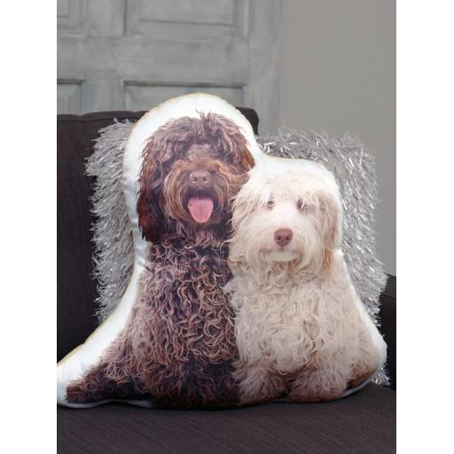 Pair of Labradoodles Shaped Cushion Perfect Gift For Dog Lovers
