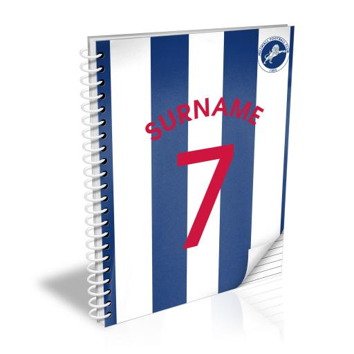 Millwall FC Shirt Notebook