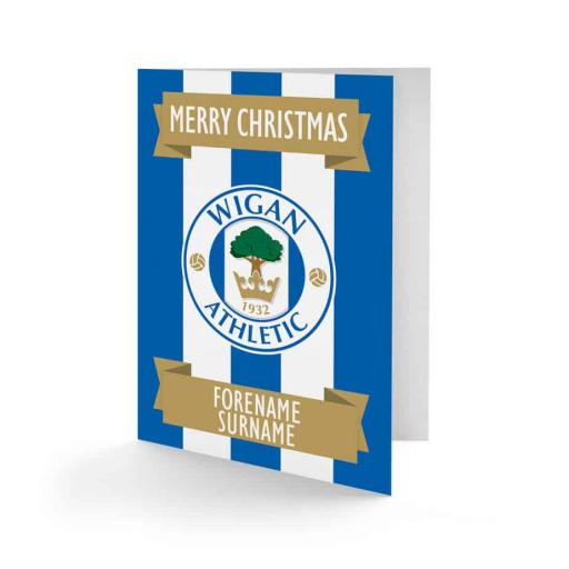 Wigan Athletic FC Crest Christmas Card