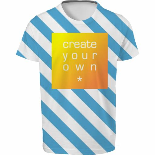 Create Your Own-T-Shirt - 100% Polyester - Double Sided Full Colour - Age 7-8 Years Kids