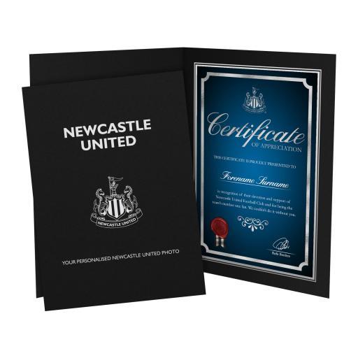 Newcastle United FC No1 Fan Certificate Folder
