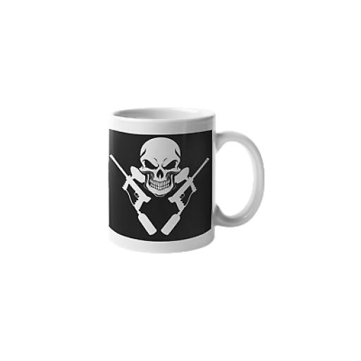 Skull Paint Balling 11oz Mug Ceramic Novelty Funny Paintballer Gift