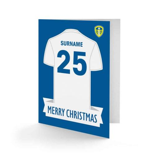Leeds United FC Shirt Christmas Card